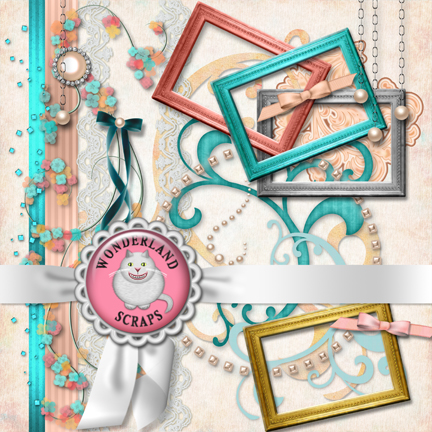 Shabby Scrapboooking Page Kit Preview