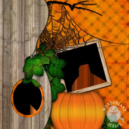 Free Halloween Scrapbooking Layout