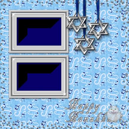 Free Hanukkah Scrapbooking Layout and Page Kit