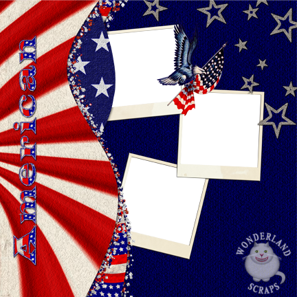 4th of July Quick Page Layout Freebie and Alphas