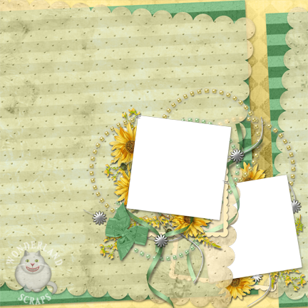 Shabby Sunflower Layout
